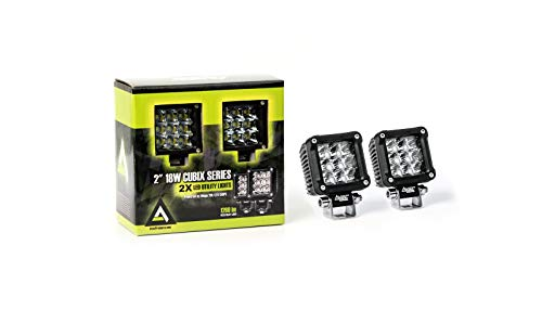 2 pc AVEC 2 Cubix series 18w LED work lights pods cubes duallys Cree
