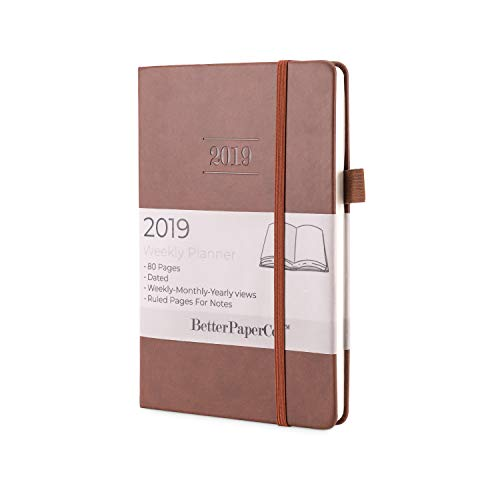 (Journal 2019 Planner - Daily, Weekly, Monthly & Yearly Views - Slim 80 Pages - A5 8.5