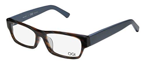 Ogi 3108 Mens/Womens Prescription Ready High-end Designer Full-rim Eyeglasses/Glasses (55-15-145, Blue / - Frames Eyeglass Designer High End