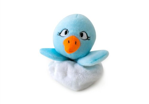 Fetch Pet Products Hatchables Interactive Hide & Seek Puzzle Plush Toy - Hides Treats - Squeaky Dog Toy Blue Bird (Blue Turtle Shell Mario)