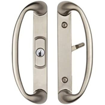 Center Position Keylocking Sonoma Sliding Door Handle in Brushed Nickel will only Fit 1-3  sc 1 st  Amazon.com & Amazon.com: Center Position Keylocking Sonoma Sliding Door Handle in ...