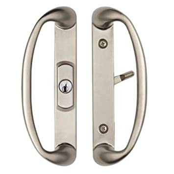 Center Keylocking Sonoma Sliding Door Handle in Brushed Nickel ...