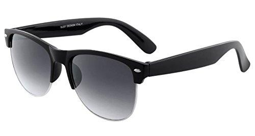 SHVAS UV Protected Premium Keymount Black Frame – Grey Lens Unisex Sunglasses [KMBLACKGREY]