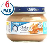 - Gerber 2nd Foods Chicken and Chicken Gravy -- 2.5 oz Each / Pack of 6