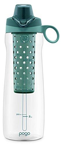 Pogo 32OZ Tritan Plastic Fruit Infuser Bottle with Chug Lid