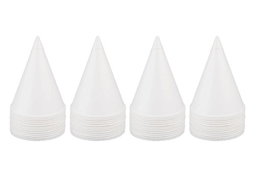 Solo Bare Treated White Paper Cone Water Cups 4 Packs of 200 Cup