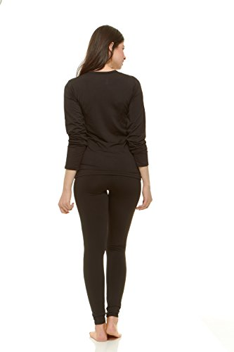 Large Product Image of Thermajane Women's Ultra Soft Thermal Underwear Long Johns Set with Fleece Lined