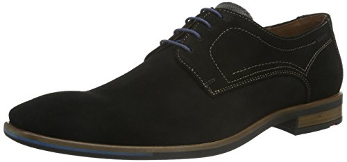Lloyd Dea, Zapatos de Cordones Derby para Hombre Negro - Schwarz (Schwarz/Grigio 1)