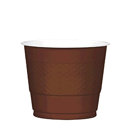 Chocolate Brown Plastic Cups | 9 oz. | Pack of 20 | Party -