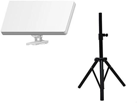 Hd-line - Trípode plegable y antena plana, 1 salida, ideal para camping, para captar la señal de un satélite: Astra, Hotbird
