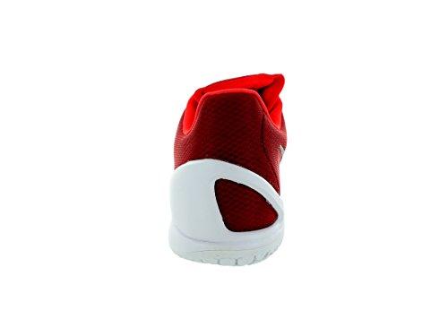 Nike Men's Hyperchase Tb Basketball Shoes, Black and White Red / Silver / White (Unvrsty Rd / Mtllc Slvr-white-br)