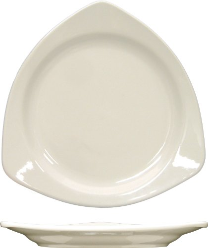 (ITI-TR-10-AW 10-1/2-Inch Triangular Plate, 12-Piece, American White)
