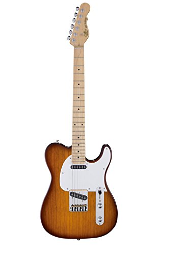 G&L Tribute ASAT Classic Electric Guitar Tobacco Sunburst Maple Fretboard ()
