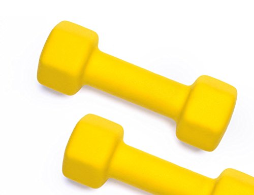 Fitness Alley Neoprene Dumbbell Pair Free Weights - Hex Hand Weights - Gym Exercise 5 Pairs Set (2lb,4lb,6lb,8lb & 10lb)