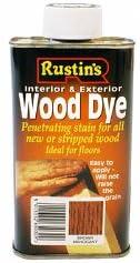Rustins Interior y exterior de madera tinte 250ml Castaño Caoba