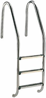 Fluidra Escalera para Piscina de Acero Inoxidable Escalera, Plata, 3 Niveles, 158 x 65 x 5 cm, m00154: Amazon.es: Jardín