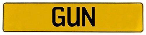 Vintage Parts 653615 Wall Art (Gun Yellow Stamped Aluminum Street Sign Mancave)
