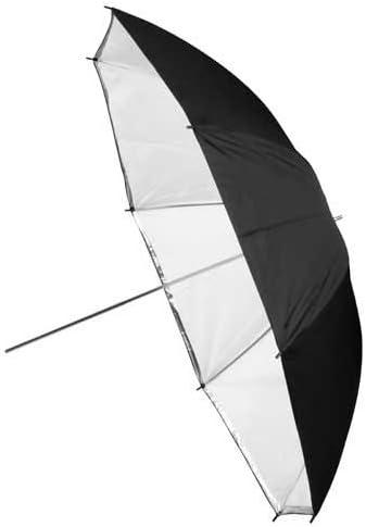 Convertible to Shoot Through 40 Inch Black and White Reflective Fotodiox Premium Grade Studio Umbrella