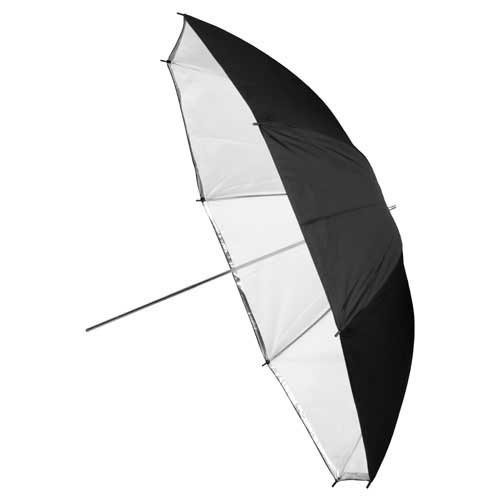 Fotodiox Premium Grade Studio Umbrella - 40 Inch Black and White Reflective, Convertible to Shoot Through (Fotodiox Umbrella)
