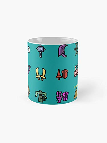 Monster Hunter Weapon Icons 11oz Mug - Made from Ceramic - Best gift for family friends -