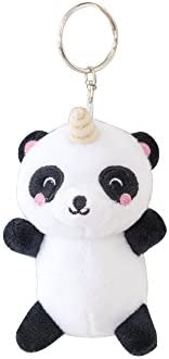 Mr. Wonderful Llavero de Peluche Oso Panda, Blanco/Negro, 9 x 14 x 4 cm