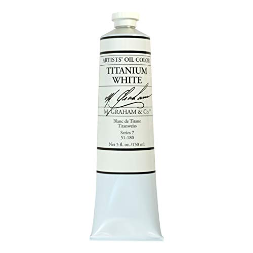 M. Graham Artist Oil Paint Titanium White 5oz Tube