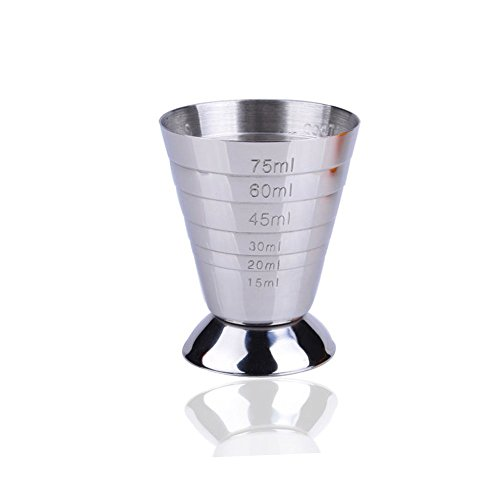 Stainless Steel Measuring Shot Cup Ounce Jigger Bar Cocktail Drink Mixer Liquor Measuring Cup Measurer by YingYing Home