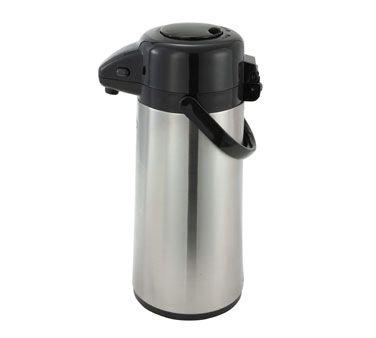 Winco AP-525 2.5-L Vacuum Server W/ Glass Liner & Push Button, Stainless Steel Body - Airpots-AP-525
