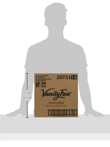 Vanity Fair Everyday Napkins, 1080 Count, White Paper Napkins, 12 Packs of 90 Napkins by Vanity Fair (Image #7)
