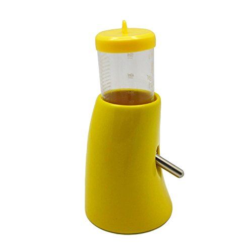 Alfie Pet by Petoga Couture - 2-in-1 Water Bottle with Hut for Small Animals like Dwarf Hamster and Mouse - Color Yellow by Alfie (Image #3)