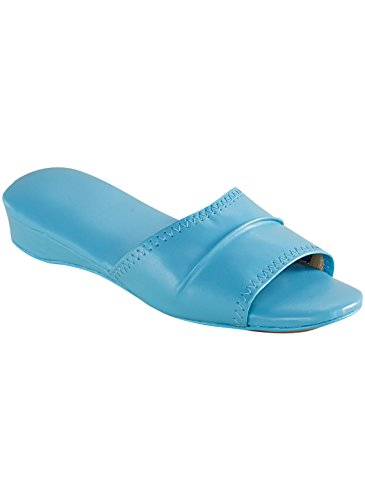 Dr Leonards Womens Slide Blue