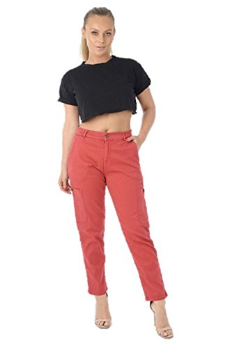 mujer para Vaqueros Ex Zara Rojo vqtEw0E