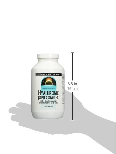 Source Naturals Hyaluronic Joint Complex With Glucosamine, Chondroitin & MSM Extra Strength - 240 Tablets by Source Naturals (Image #1)