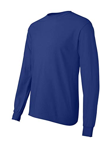 Hanes ComfortSoft Tagless Long-Sleeve T-Shirt. 5586 - Large - Deep Royal ()