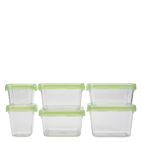 OXO Good Grips 12-Piece LockTop Container Set with Green Lids