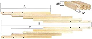 product image for DutchCrafters Unfinished Maple Wood Table Extension Slide (34)
