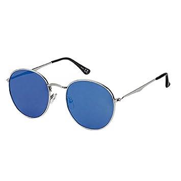 Sonnenbrille Pilotenbrille Panto Round 400 UV verspiegelt Steg lang geknickt silber 30UCrGqRV