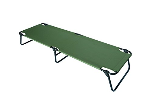 Trademark Innovations Portable Folding Camping Bed, Cot, Beach Lounger By