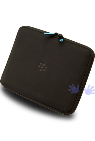 Blackberry ACC-39318-305 Zip Sleeve for Playbook - 1 Pack - Carrying Case - Retail Packaging - Black/Blue