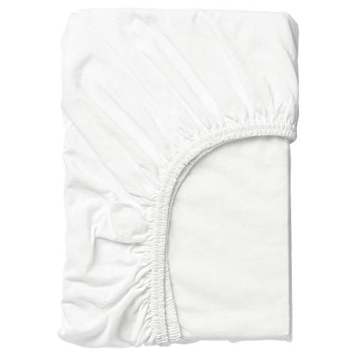 """Ikea Len Fitted Baby Crib Sheet, 28"""" x 63"""", White"""