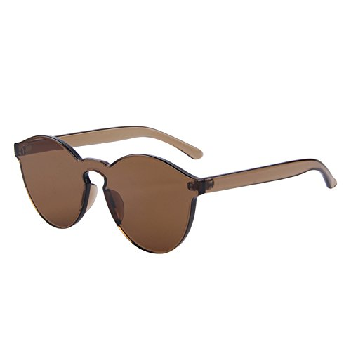 2018Cat Women Fashion Luxury Sun Glasses Integrated Color UV400,C07 Brown]()