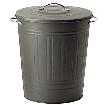 KNODD - IKEA - Garbage Bin with Lid Grey Colour 40 l (11 Gallon)