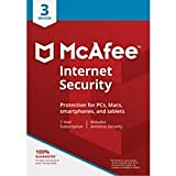 Office Products : McAfee Internet Security, for PC or Mac, 3 Devices, 1 Year Subscription