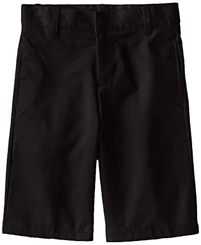 - French Toast Big Boys' Basic Flat Front Short with Adjustable Waist, Black, 12