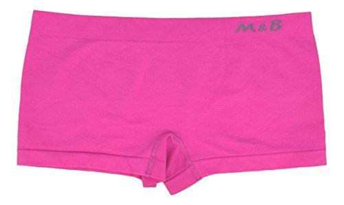 Mujer culotte sin costuras de microfibra stretch ropa interior estilo braguita shorts hipster lote 3 fushia/rosa/morado
