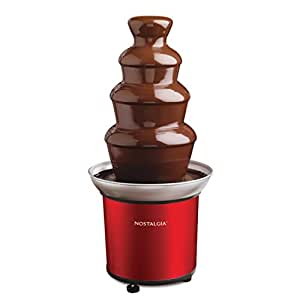 Nostalgia Retro Red 4-Tier Stainless Steel Chocolate Fondue Fountain - CFF986RR