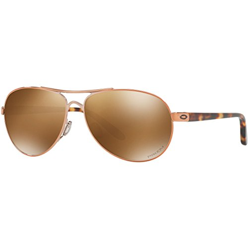 Oakley Women's Metal Woman Polarized Aviator Sunglasses, Rose Gold, 59 - Sunglasses Oakley Womens