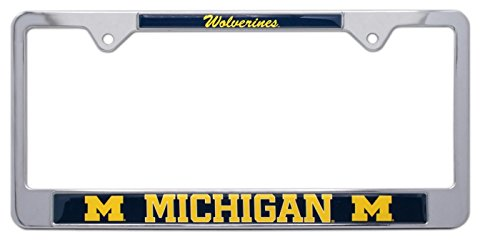 All Metal NCAA Wolverines Mascot License Plate Frame (Michigan)