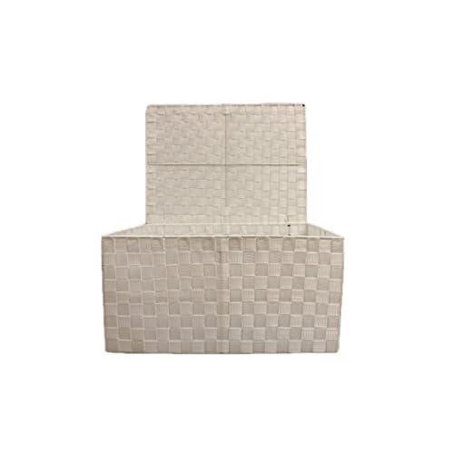 Arpan - Boîte de rangement Moderne Conique Avec un couvercle, Métal, blanc, Storage Large
