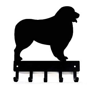 The Metal Peddler Australian Shepherd Key Rack Dog Leash Hanger - Small 6 inch Wide 3